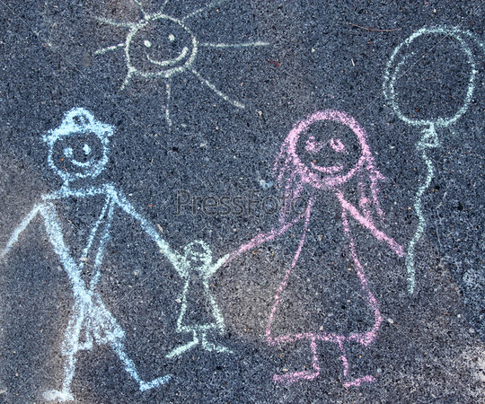 фото детские рисунки на асфальте