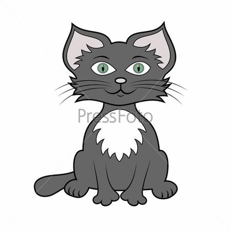 Фото коте рисованный