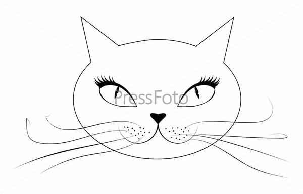 кошки нарисованная картинка