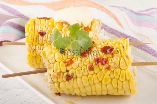 Фотография на тему Жареная кукуруза в початках