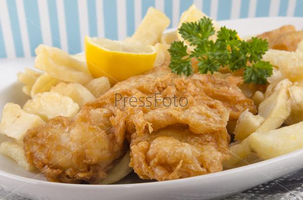 Фотография на тему Рыба, картофель и лимон