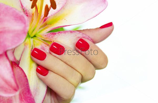 Фотография на тему Коралловые ногти
