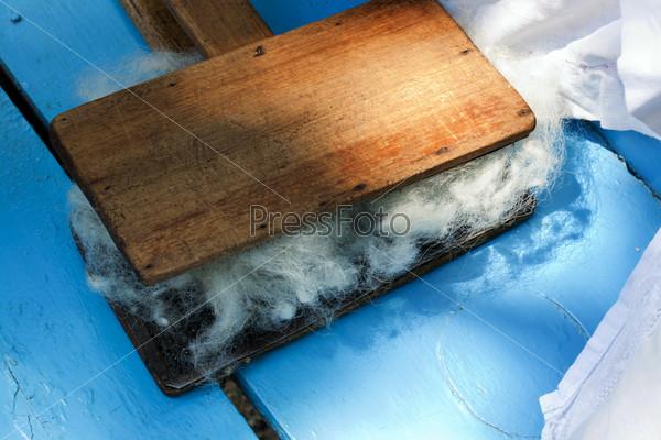 Традиционный деревянный ручной инструмент для валяния шерсти