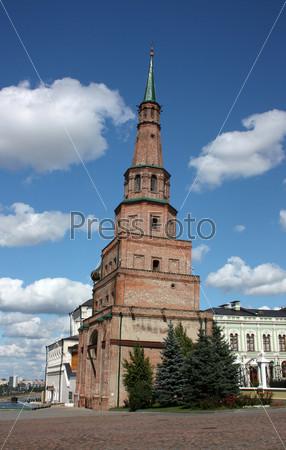 Башня Сююмбике в Казанском Кремле. Россия, Республика Татарстан, Казань