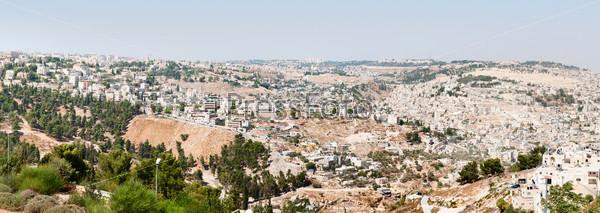 Фотография на тему Панорама Иерусалима, старый и новый город
