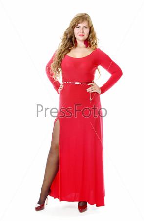 Фотография на тему Женщина в красном