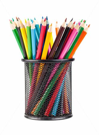 Цветные карандаши в подставке