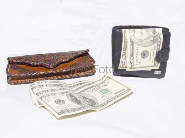 Два кошелька для хранения денег