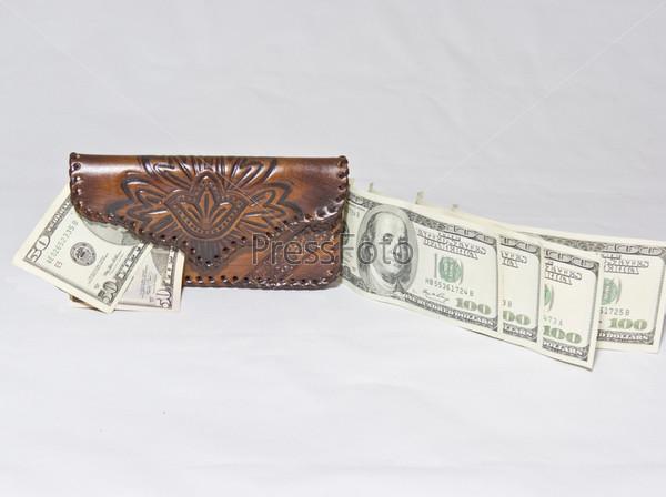 Фотография на тему Поток долларов на кошелек