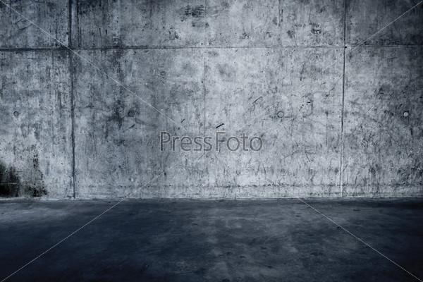 Бетонная стена и пол