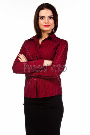 Молодая, красивая и успешная деловая женщина