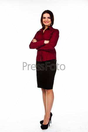 Фотография на тему Молодая, красивая и успешная деловая женщина