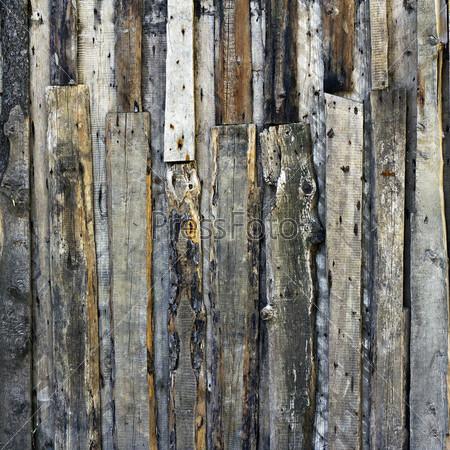 Иллюстрация, гранж-фон из деревянных материалов