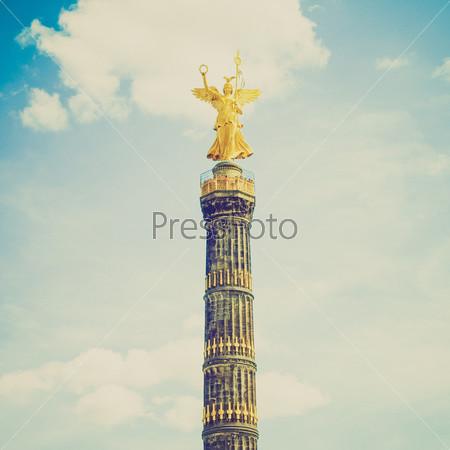 Статуя Ангела в парке Тиргартен, Берлин, Германия