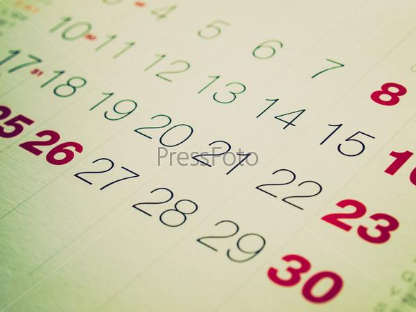 Страницы календаря с датами