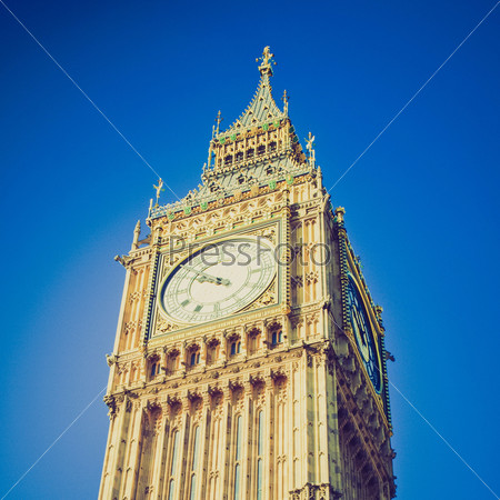 Биг Бен, здание парламента, Вестминстерский дворец, Лондон, Великобритания