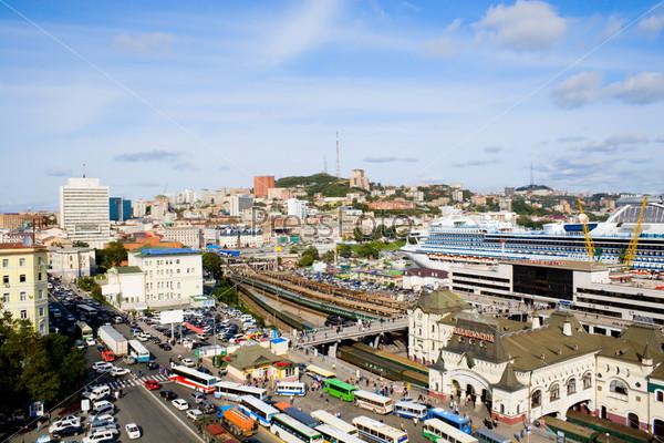 Фотография на тему Вид на центр Владивостока с крыши, Россия
