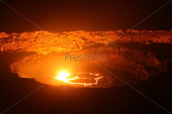 Вулкан Эрта Але в Эфиопии