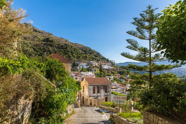 Критская деревушка на острове Крит, Греция