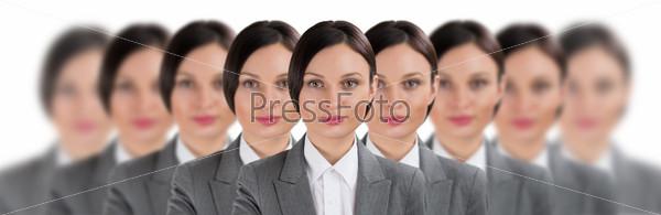 Фотография на тему Группа деловых женщин-клонов