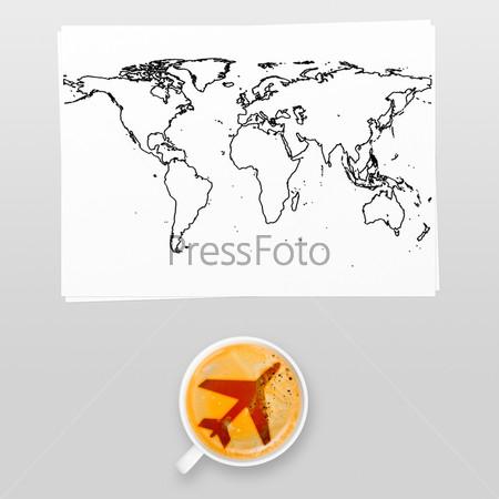 Фотография на тему Кофе в аэропорте