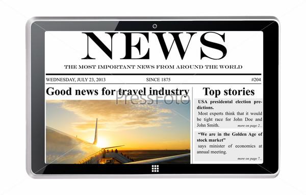 Планшетный компьютер с новостями