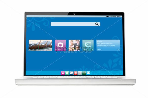 Фотография на тему Современный ноутбук