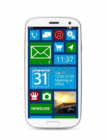 Сенсорный экран смартфона