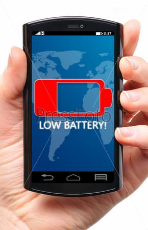 Фотография на тему Низкий заряд батареи