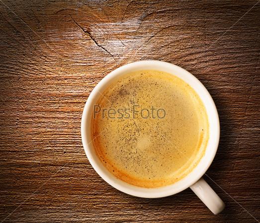 Фотография на тему Свежий эспрессо на столе