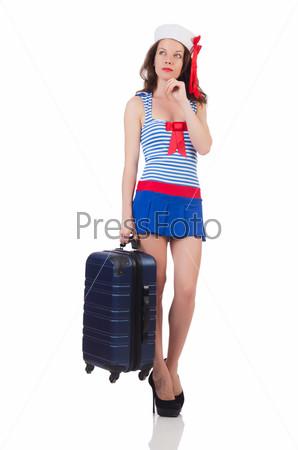 Фотография на тему Молодая женщина готовится к отдыху