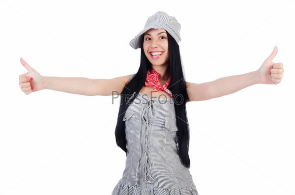 Фотография на тему Женщина в панаме готова к отпуску