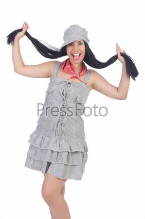 Женщина в панаме готова к отпуску