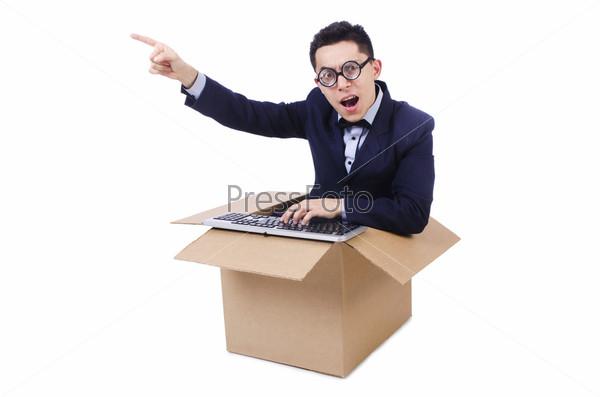 Фотография на тему Компьютерщик в коробке