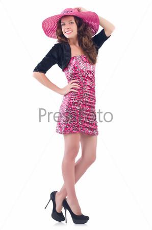 Фотография на тему Женщина в панаме готова к летнему отдыху