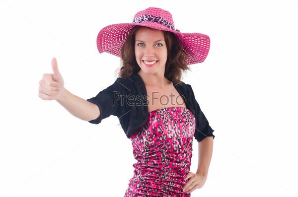 Женщина в панаме готова к летнему отдыху