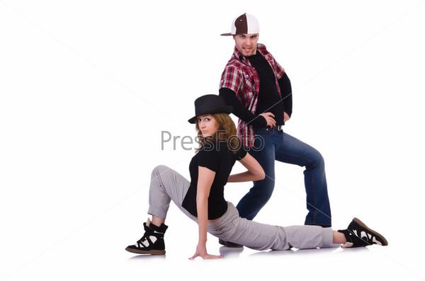 Фотография на тему Пара танцоров танцует современный танец