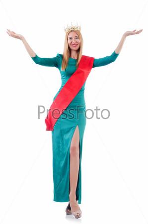 Фотография на тему Женщина участвует в конкурсе красоты