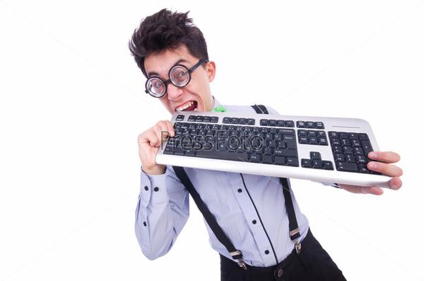 Фотография на тему Компьютерщик в смешной концепции