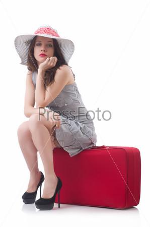 Молодая женщина готова к отдыху