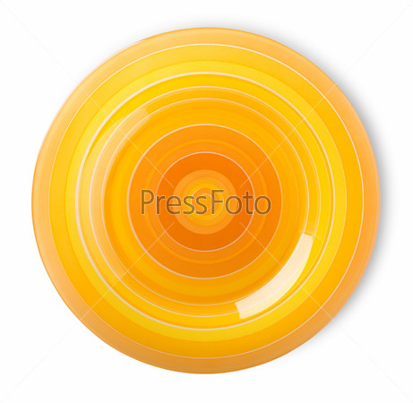 Оранжевая тарелка