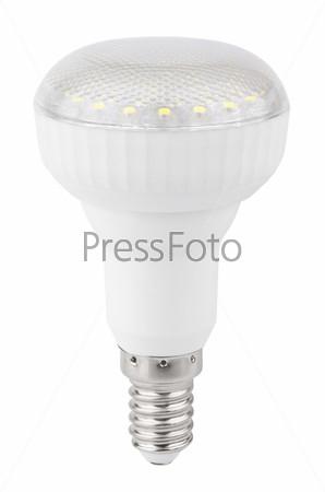 Светодиодная лампа, изолированная на белом фоне