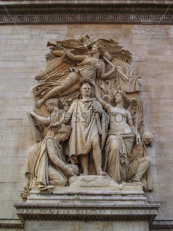 Барельеф Триумф 1810 на Триумфальной арке