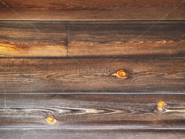 Старые коричневые деревянные стены