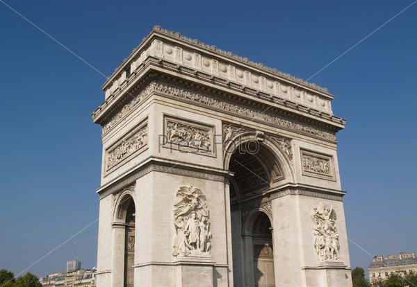 Фотография на тему Триумфальная арка в Париже