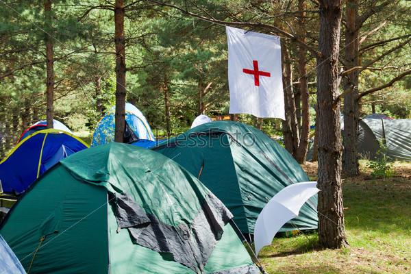 Медпункт в палаточном городке
