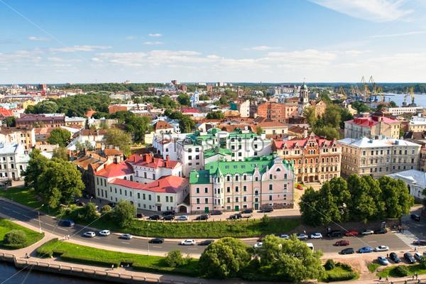 Панорама Старого города Выборга с портом