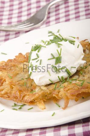 Фотография на тему Драник с мягким сыром
