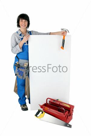 Фотография на тему Женщина с инструментами