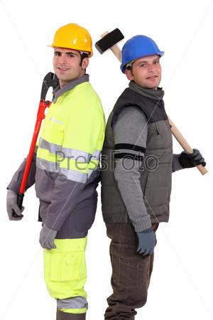Фотография на тему Рабочие с инструментами